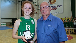 Lithuania's Dalia Belickaite was named MVP of the tournament